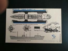SUPPLÉMENT A MARABOUT JUNIOR N°91 MAQUETTE MODELE REDUIT CARTON  BATEAU PETROLIER TANKER CLASSE T-2 - Barche