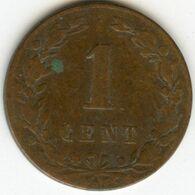 Pays-Bas Netherland 1 Cent 1883 KM 107 - 1849-1890 : Willem III