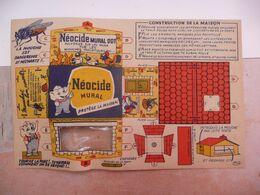 """Jeu Publicité Publicitaire Néocide Mouche Maison Illustrée Style B. Rabier Science éducation Sanitaire """" Noté Algérie - Paperboard Signs"""