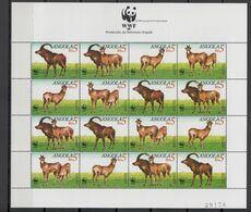 Angola 1990 WWF Antelope Sheetlet MNH - Nuevos