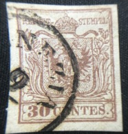 1850 - LOMBARDO VENETO - 30 CENT. - 8a - VENEZIA - SIGNED - SPL - EURO 40,00 ++++ - Lombardo-Veneto