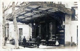 Carte Photo -  DRAGUIGNAN (83)  Nouvelles Galeries - Blvd Des Marronniers  Cachet Fournitures Militaires A. Valladon - - Draguignan