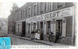 EPERNON - HOTEL DE L'OUEST - Tenu Par M.Jauneau. Correspondant Du Chemin De Fer - Epernon