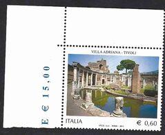 Italia 2011; Villa Adriana A Tivoli; Francobollo Di Angolo Superiore. - 2011-...: Mint/hinged