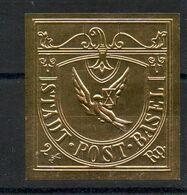 26 Timbres Gaufrés Or  - Thème Rareté Philatélique - Philatélie & Monnaies