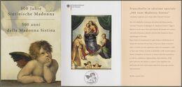 """Bund + Vatikan: Ministerkarte Mi-Nr. 2919, Block 79: """" Sixtinische Madonna """" Joint Issue Gemeinschaftsausgabe R - Blocchi"""