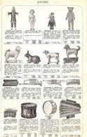 Feuillet Richement Illustré +1925  Jouets Service Carrousel Tracteur Avion Auto Mécanique Poupée Ours En Peluche - 1900 – 1949