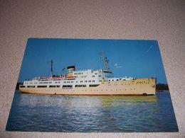 1950s SS BORE III, PASSENGER CARGO SHIP VTG POSTCARD - Passagiersschepen