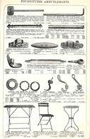 Feuillet Richement Illustré +1925 Petits Rideaux & Fourniture Ameublement Tringle Porte-manteau Chaise Pliante En Fer - 1900 – 1949
