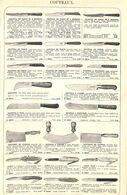 Feuillet Richement Illustré +1925 Fourniture Ameublement Tringle Couteaux Hachoir Canif - 1900 – 1949