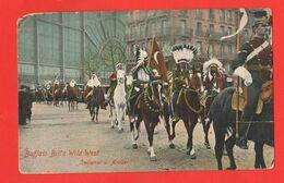 Buffalo Bill Wild West Cartolina Viaggiata X Possagno Da Preganziol Treviso 1914 Indians Visit Paris - America