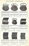Feuillet Richement Illustré +1925 Sacs De Dames, Portefeuilles, Porte-monnaie - 1900 – 1949
