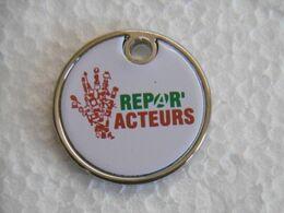"""Jeton De Caddies à 2 Faces """"REPAR'ACTEURS"""" Je Répare Et ça Repart ! NANCY - Jetons De Caddies"""
