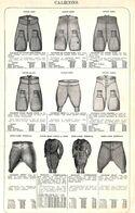 Feuillet Richement Illustré +1925 Caleçons Et Gilets Laine Coton - 1900 – 1949