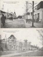2 CPA:BELGIQUE EXPOSITION INTERNATIONALE DE GAND 1913 AVENUE DES NATIONS,AVENUE DE BELVÉDÈRE - Belgium