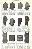Feuillet Richement Illustré +1925 Vareuses, Caleon Maillot De Bain Bottines Souliers Hommes - 1900 – 1949