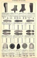 Feuillet Richement Illustré +1925 Souliers Enfants & Guetres Pour Hommes/dames, Semelles Talons - 1900 – 1949