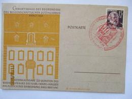 Karl Marx Sozialismus, Sonderkarte Trier Rheinland Pfalz 1947 (7751) - Stamps