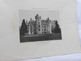 VIENNE - LES TROIS MOUTIERS   Château De La Mothe Champdeniers  -Gravure Robuchon-    Paysages Et Monuments Du Poitou - Unclassified