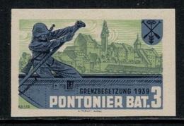 Suisse /Schweiz/Switzerland // Vignette Militaire // Pontonniers Bat. 3 (Non Dentelé) - Viñetas