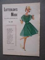 Catalogue Trimestriel - Lutterloh's Mode Supplemente No 88 - 50 Modèles Avec Fiches Patron - Mode