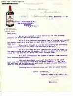 AFRIQUE DU SUD.JOHANNESBOURG.WHISKY.LIQUEUR.GABRIEL STERN & Cie.47 PRESIDENT STREET. .(P.J) - Alimentos