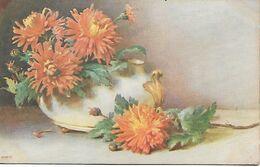 L60E110 -  Dessin De Chrysanthèmes  - Raphaël Tuch &son - Oilette N°8468 - Flowers