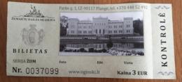 Lithuania Plunge Zemaiciu Art Museum Ticket - Tickets - Vouchers