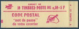 Yv 1664 C1 - Marianne De Bequet 0,50 Rouge - Conf. 3 - Ouvert! - Markenheftchen