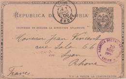 Carte  Entier  Postal     COLOMBIE    COLON     1900 - Colombia