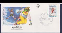 St.Vincent FDC 1992 Albertville Olympic Games - Mogul Skiing (G112-57) - Winter 1992: Albertville
