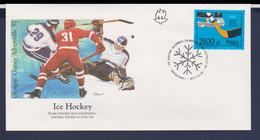Poland FDC 1992 Albertville Olympic Games - Icehockey (G112-57) - Winter 1992: Albertville