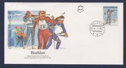 Ceskoslovensko FDC 1992 Albertville Olympic Games - Biathlon (G112-57) - Winter 1992: Albertville
