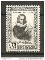 ISLANDA - 1956 J.P. VIDALIN Teologo Nuovo** MNH - Teologi