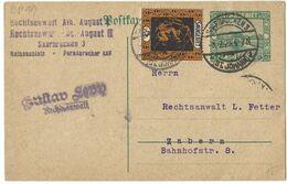 SAARGEBIET Ganzsache Entier - SAARBRÜCKEN 3 / (ST. JOHANN) 1 - 8.2.1923 - Storia Postale