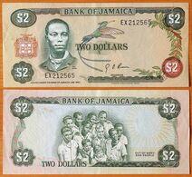 Jamaica 2 Dollars 1960 (1976) XF P-60a - Giamaica