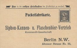 Allemagne Poste Locale Berlin Carte Postale Entier Postal Neuf, Bière, Beer, Bier. Siphon-Kannen Flaschenbier - Birre