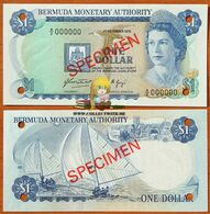 Bermuda 1 Dollar 1976 UNC Specimen P-28as Rare Year - Bermudas