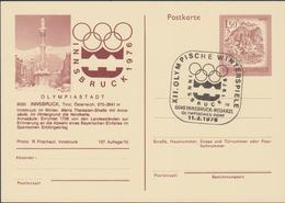 Austria Postal Stationary 1976 Olympic Games Innsbruck - Innsbruck Posted Innsbruck-Neuarzl 1976 (G112-57) - Hiver 1976: Innsbruck