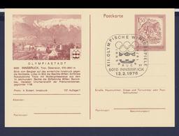 Austria Postal Stationary 1976 Olympic Games Innsbruck - Innsbruck Posted Innsbruck 1976 (G112-57) - Hiver 1976: Innsbruck