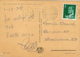 37689. Postal LAS PALMAS GRan Canaria ( Canarias) 1978. Rodillo Especial REFERENDUM Constitucion - 1931-Aujourd'hui: II. République - ....Juan Carlos I