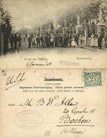 Nederland, TILBURG, Bredascheweg Met Volk (1908) Ansichtkaart - Tilburg