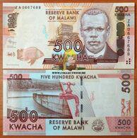 Malawi 500 Kwacha 2012 UNC Replacement P-61a - Malawi