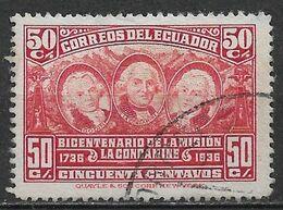Ecuador 1936. Scott #351 (U) Louis Godin, Charles M. De La Condamine & Pierre Bouguer - Equateur
