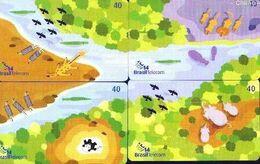 Brazil 2220 PR 2003 SÉRIE (PUZZLE) MINIS BICHOS (4 CTS) - Puzzle