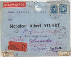 ESC Rec. 30 M. Alexandrie -> France  -> Alexandrie -> Le Caire, Réparée Par La Poste Egyptienne 1930 - Egypt
