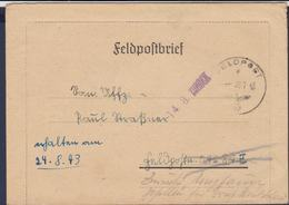German Feldpost WW2: KIA - Gefallen Für Grossdeutschland Original Posted To Ladoga See - Grenadier-Regiment 23 - Militaria