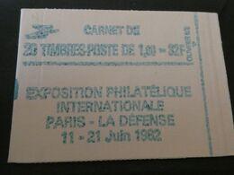 FRANCE 1982 Carnet N ° 2219 - C1 ** Conf 8 - Type LIBERTE 1,60Fr. VERT Cote : 55 Euros PHILEXFRANCE 82 - Uso Corrente