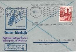 MiNr.45 (EF)  Bedarf Krakau - Reichshof (Rzeszow) MWST 1940 Generalgouvernement - Officials