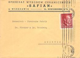 MiNr.78 (EF)  Bedarf Warschau - Meißen MWST 1942 Generalgouvernement - Occupation 1938-45